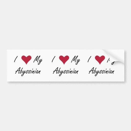 I Heart My Abyssinian Bumper Stickers