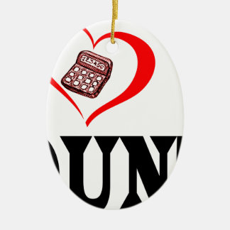 I heart my ACCOUNTANT Ceramic Ornament