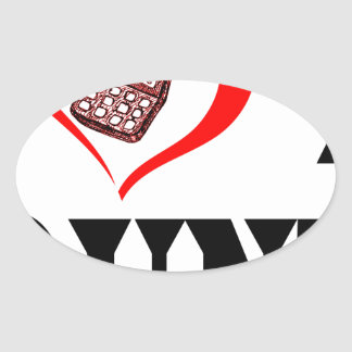 I heart my ACCOUNTANT Oval Sticker