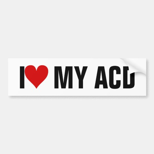 I [Heart] MY ACD Bumper Sticker