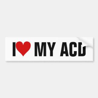 I [Heart] MY ACD Car Bumper Sticker