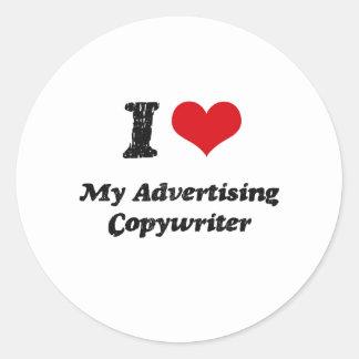 I heart My Advertising Copywriter Stickers