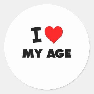 I Heart My Age Classic Round Sticker