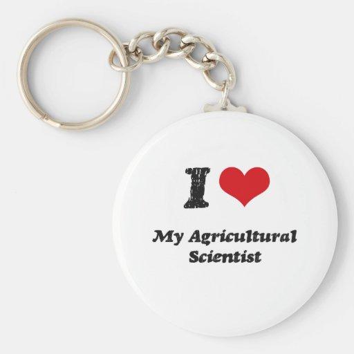I heart My Agricultural Scientist Basic Round Button Keychain