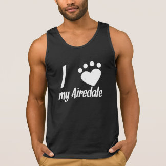 I Heart My Airedale Tank Top
