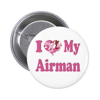I Heart My Airman Pinback Button