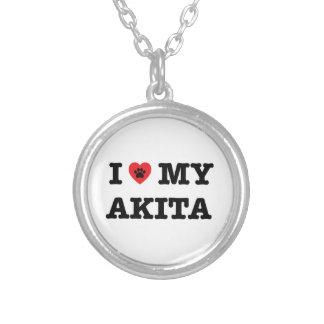 I Heart My Akita Necklace