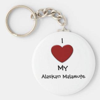 I (heart) My Alaskan Malamute Keychain