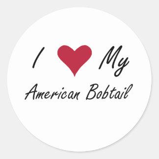 I Heart My American Bobtail Classic Round Sticker