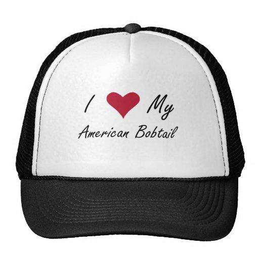 I Heart My American Bobtail Trucker Hats