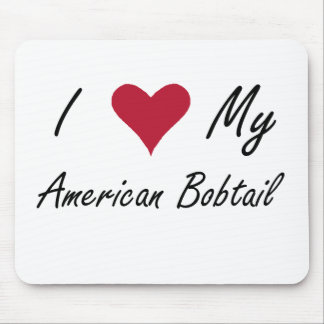 I Heart My American Bobtail Mouse Pad