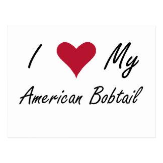 I Heart My American Bobtail Postcard