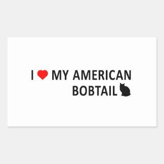 I (Heart) My American Bobtail Rectangular Sticker