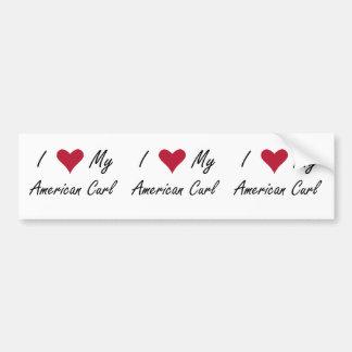 I Heart My American Curl Bumper Sticker