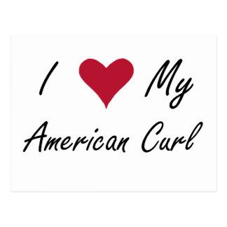 I Heart My American Curl Postcard