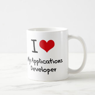 I heart My Applications Developer Classic White Coffee Mug