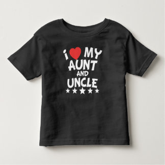 I Heart My Aunt And Uncle Toddler T-shirt