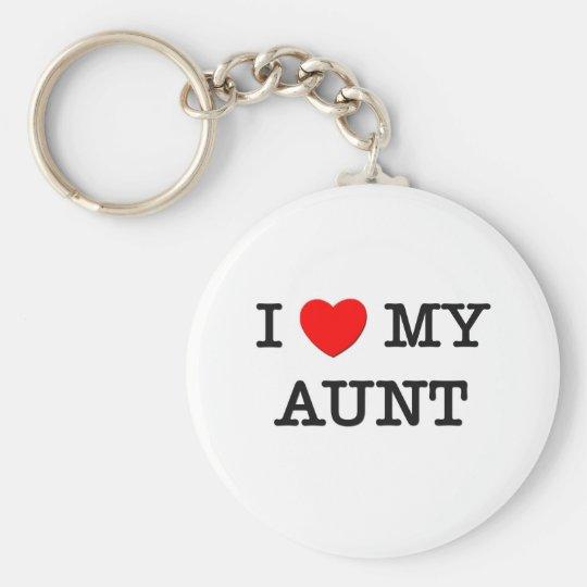 I Heart My AUNT Keychain