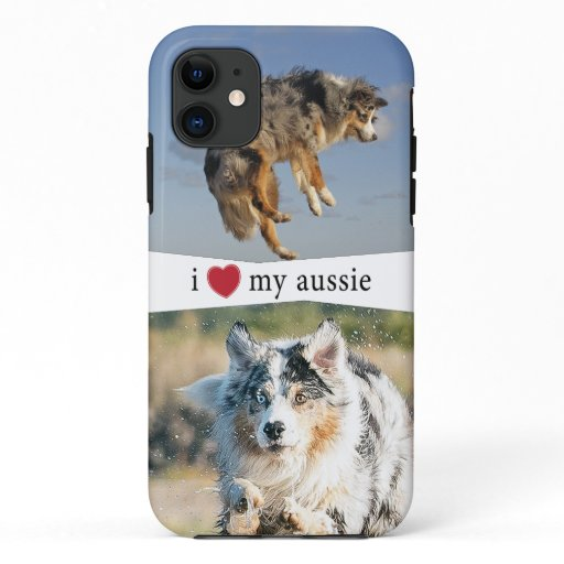 I Heart My Aussie Australian Shepherd iPhone 11 Case