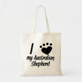 I Heart My Australian Shepherd Canvas Bags