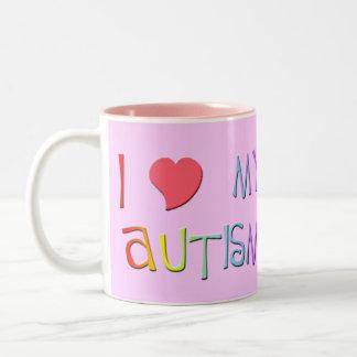 I Heart My Autism Mugs