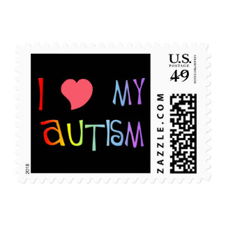 I Heart My Autism Stamps