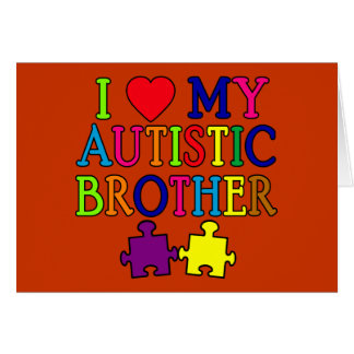 I Heart My Autistic Brother Cards