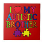 I Heart My Autistic Brother Ceramic Tile