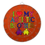 I Heart My Autistic Brother Dart Boards
