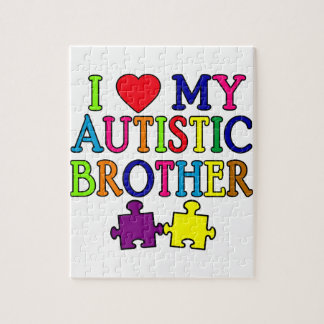 I Heart My Autistic Brother Jigsaw Puzzle