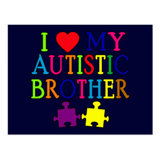 I Heart My Autistic Brother Postcard