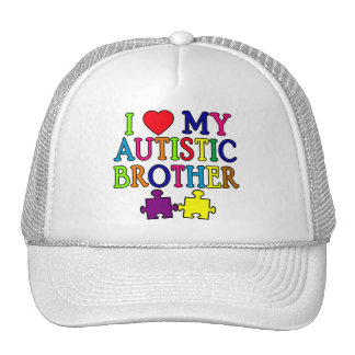 I Heart My Autistic Brother Trucker Hat