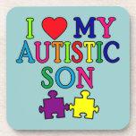 I Heart My Autistic Son Beverage Coaster