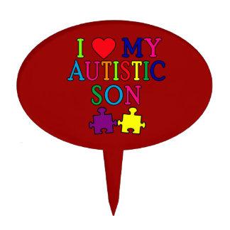 I Heart My Autistic Son Cake Picks