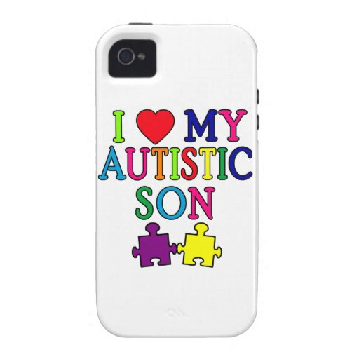 I Heart My Autistic Son iPhone 4/4S Cover