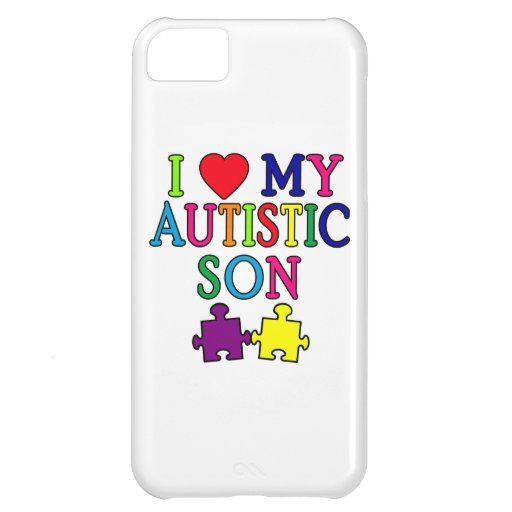 I Heart My Autistic Son iPhone 5C Cover