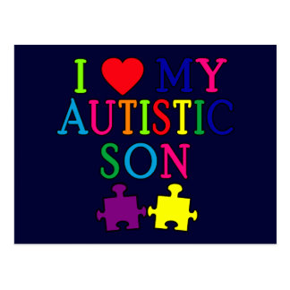 I Heart My Autistic Son Post Card