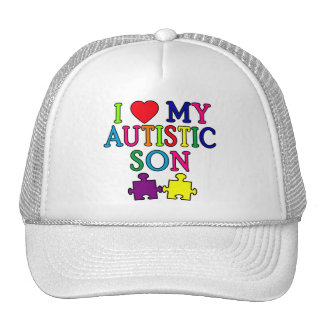 I Heart My Autistic Son Trucker Hat