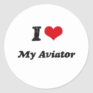 I heart My Aviator Sticker