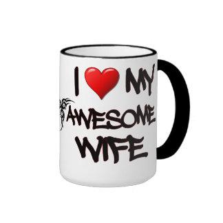 I Heart My Awesome Wife Mug
