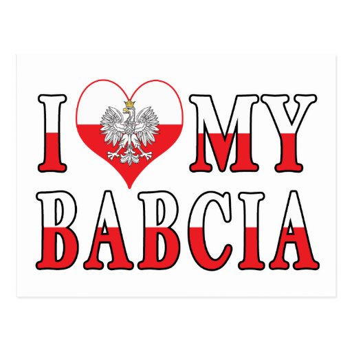 I Heart My Babcia Postcard