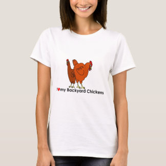 I Heart My Backyard Chickens T-Shirt
