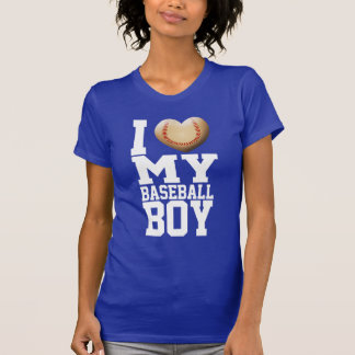 I Heart My Baseball Boy Tee Shirt