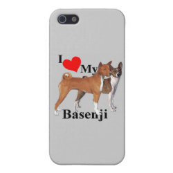 Case Savvy iPhone 5 Matte Finish Case with Basenji Phone Cases design