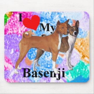 I Heart My Basenji Mouse Pad