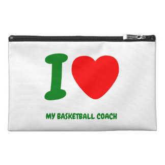 I Heart MY BASKETBALL COACH Travel Accessories Bag