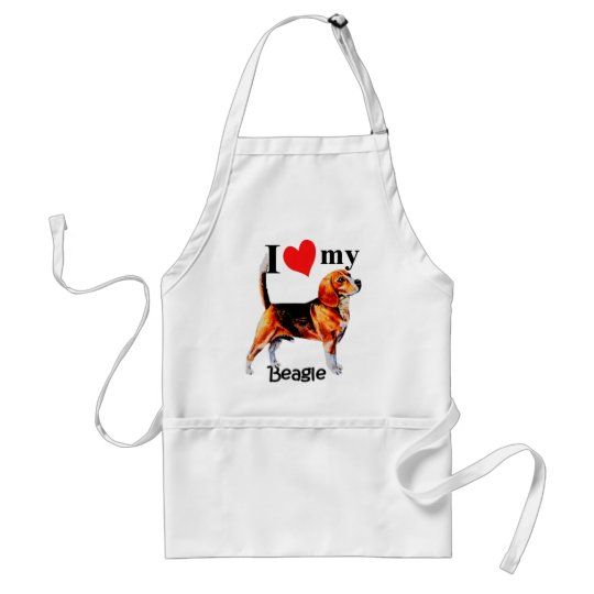 I Heart My Beagle Adult Apron
