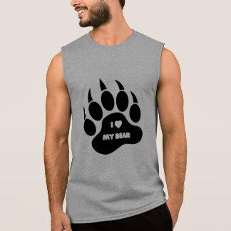 I Heart My Bear In Black Paw - Shirt