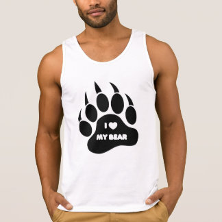 I Heart my Bear in The Paw Tank Top