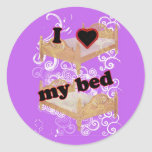 I Heart My Bed Stickers